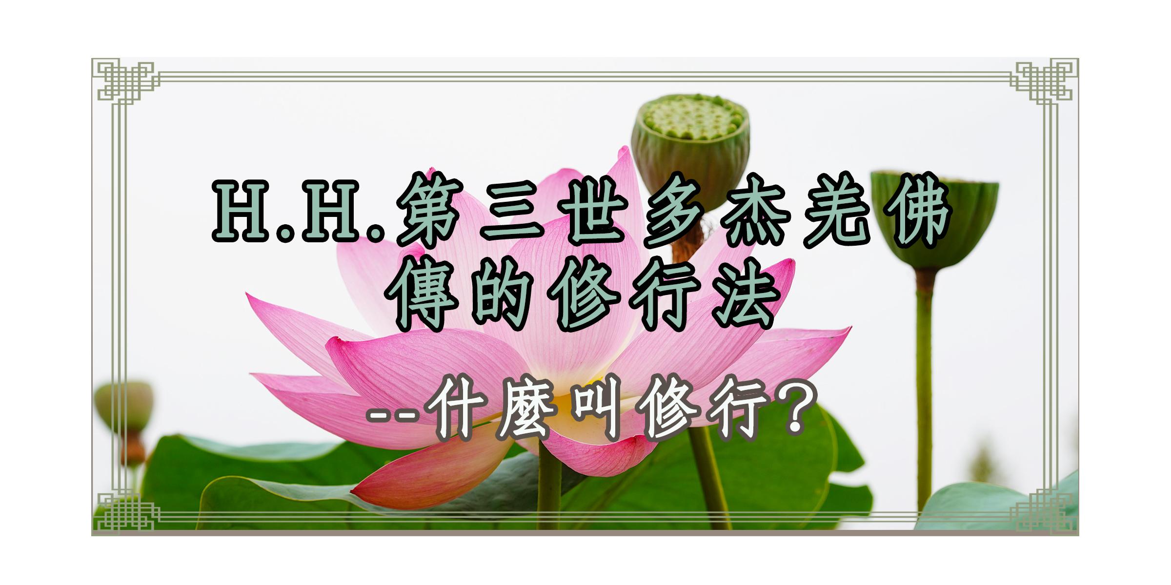 H.H.第三世多杰羌佛傳的修行法  什麼叫修行?
